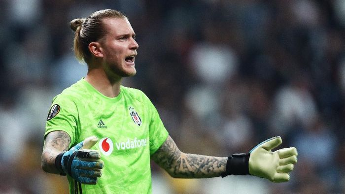 ISTANBUL, TURKEY - OCTOBER 03: Loris Karius of Besiktas reacts during the UEFA Europa League group K match between Besiktas and Wolverhampton Wanderers at Vodafone Park on October 03, 2019 in Istanbul, Turkey. (Photo by Dean Mouhtaropoulos/Getty Images)