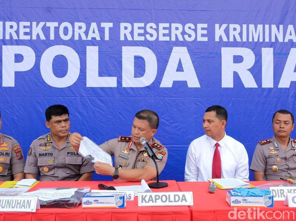 3 Pembunuh Sadis Bos Tepung Bakso di Riau Ditangkap