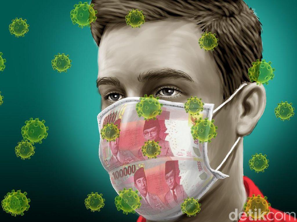 Harga Masker di Pasar Pramuka Sempat Turun, Disinfektan Naik