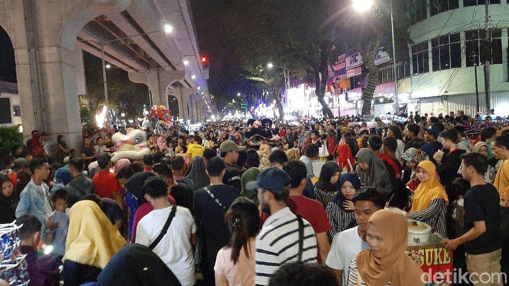 Wajah Trotoar Sudirman Kota Palembang yang Dijajah PKL