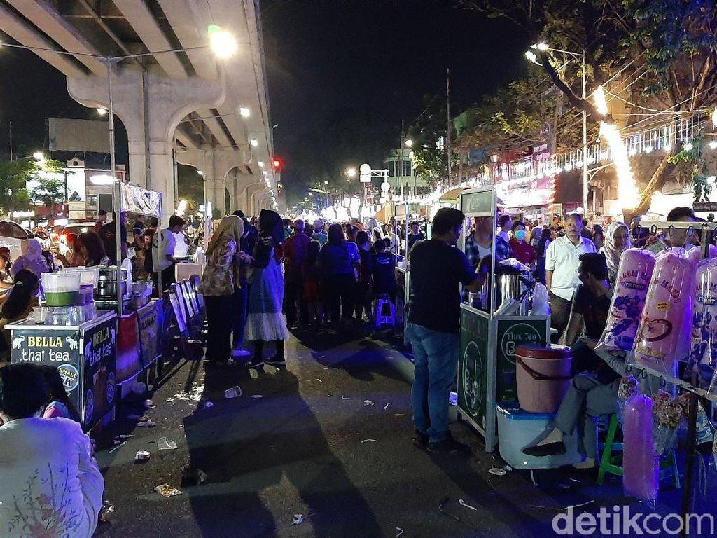 Semrawut PKL di Trotoar Sudirman, Dispar Palembang: Harus Ditertibkan!