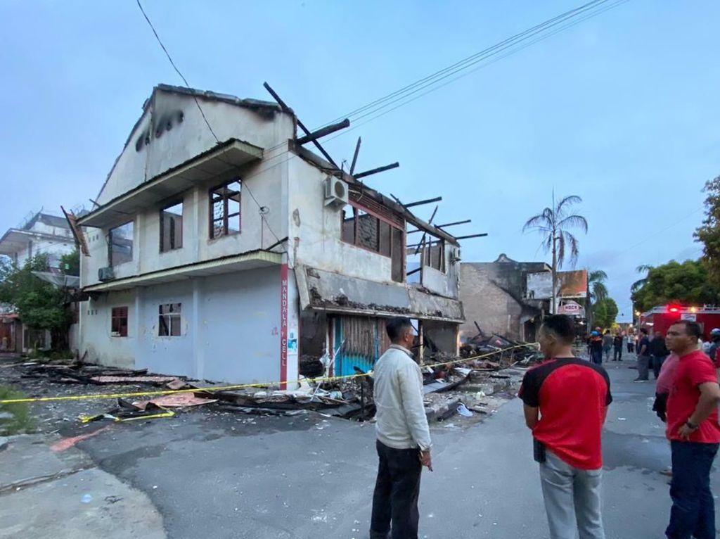 Kebakaran di Lorong 3 Pasar Muntok Bangka, 4 Ruko Ludes