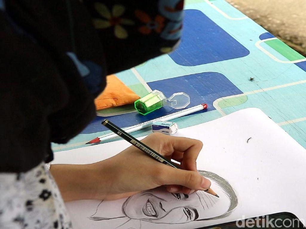 Goresan Tangan Kidal Ajaib Febby Mempesona Jokowi