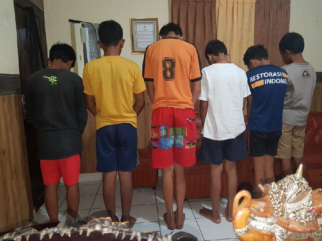 Lempari Mobil dengan Batu, 6 ABG di Gianyar Bali Ditangkap Polisi