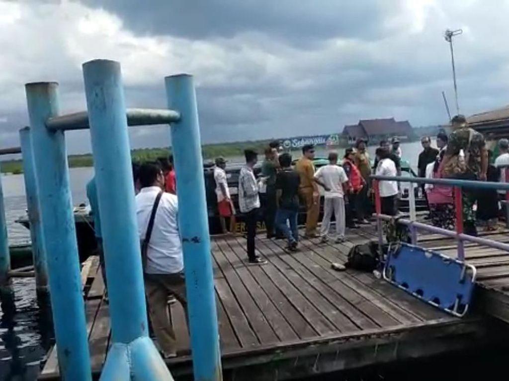 Begini Lokasi Kecelakaan Speedboat Paspampres di Palangka Raya