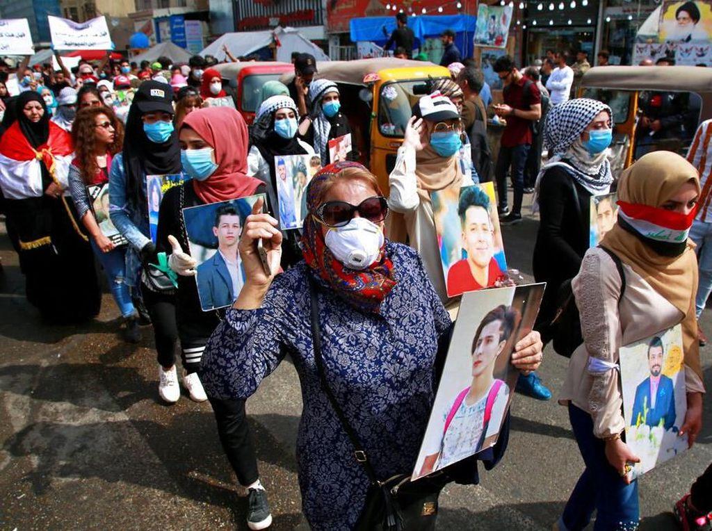 Potret Peringatan Hari Perempuan Internasional Irak di Tengah Wabah Corona
