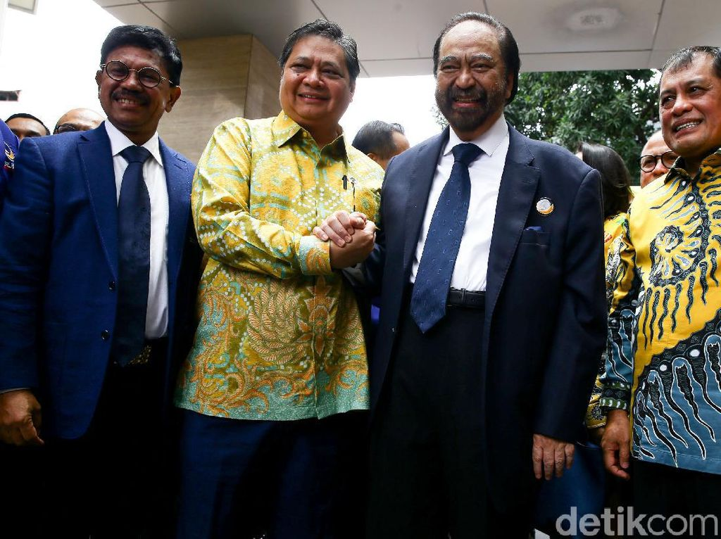 Surya Paloh Bertemu Airlangga Hartarto, Bahas Konvensi Capres?