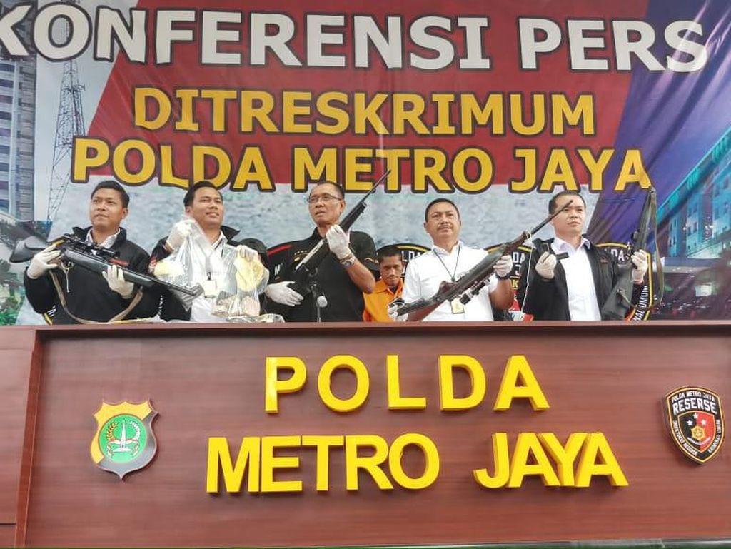 Residivis Curanmor Ditangkap di Bogor, 5 Senjata Api Disita