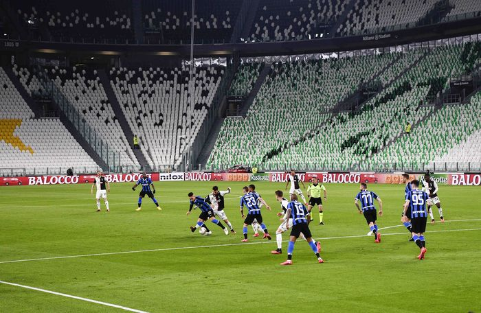 Juventus vs Inter Milan menjalani laga lanjutan Liga Italia di Allianz Stadium, Minggu (2/3/2020) dini hari WIB. Namun laga tersebut dilangsungkan tanpa penonton.