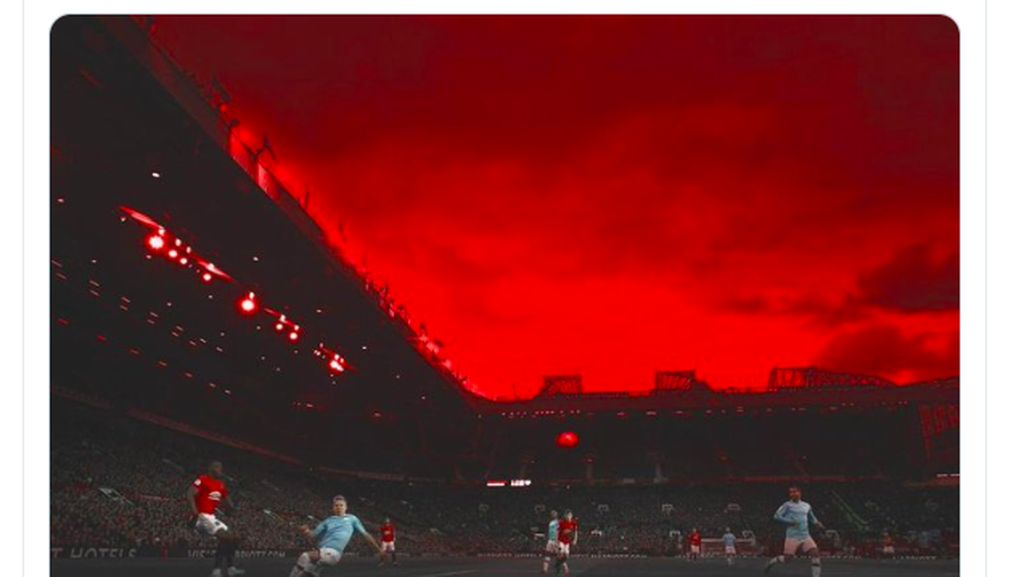 Manchester Is Red Bergema di Linimasa