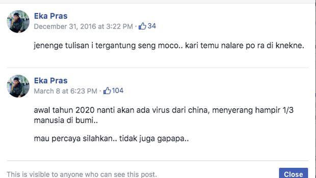 Ramai Postingan Santri Soal 'Virus Corona' Sejak 2016, Ramalan Atau Editan?