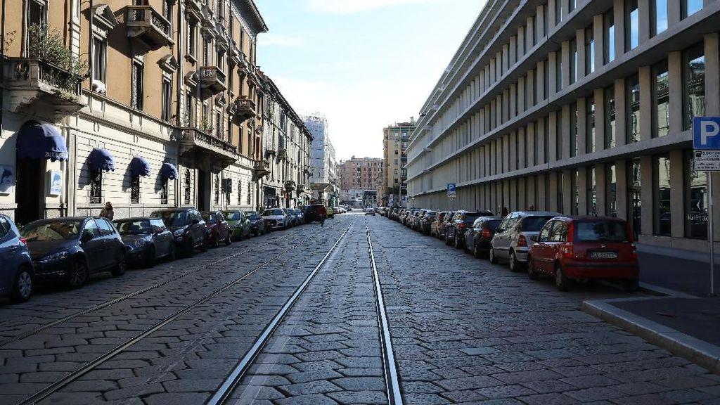 Potret Jalanan Kota Milan yang Kini Sunyi karena Corona