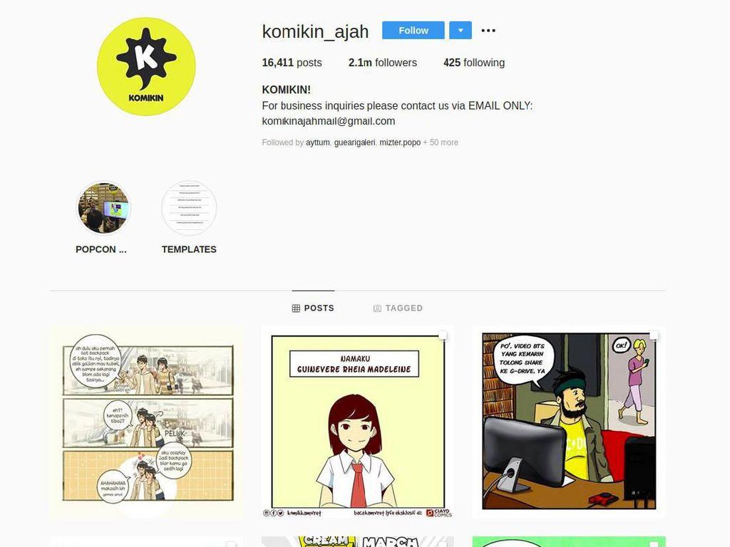 Komikin Ajah, Komunitas Komik Instagram yang Hits