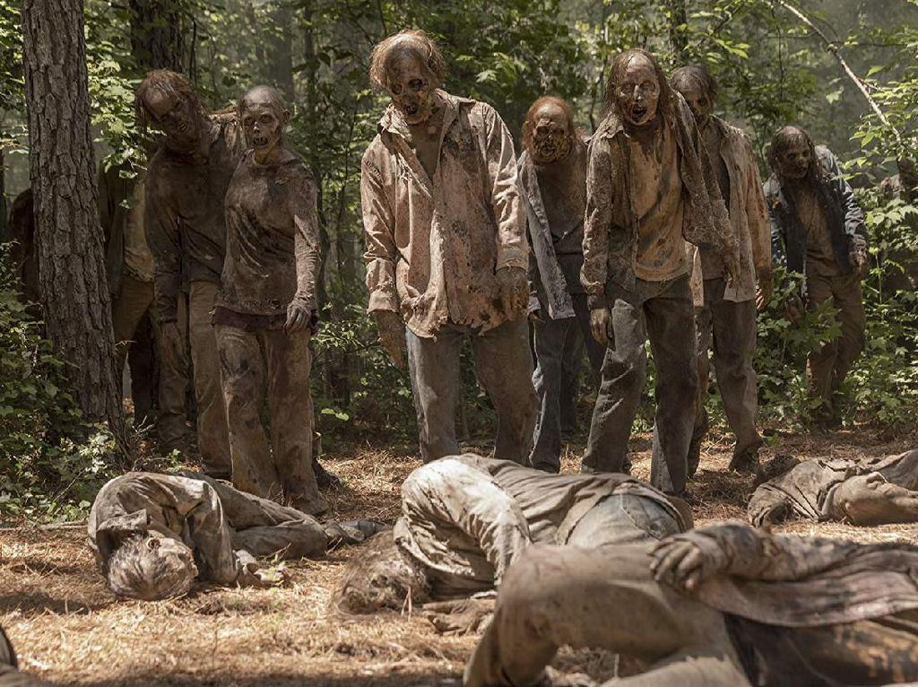 Seram! Kepala Zombie Dipajang di Pagar Buat Penangkal Corona