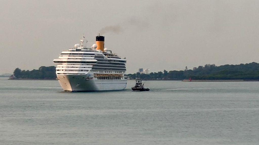 Ditolak Thailand dan Malaysia, Kapal Costa Fortuna Berlabuh di Singapura