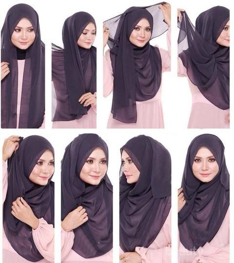 4 Tutorial Hijab Yang Bisa Menyiasati Tubuh Gemuk Kamu Supaya Bikin Tampil Beda