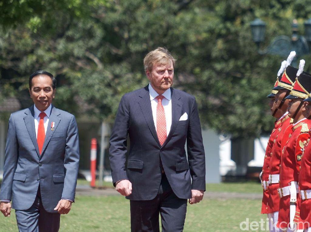 Jokowi-Iriana dan Cucu Sambut Raja-Ratu Belanda di Istana Bogor
