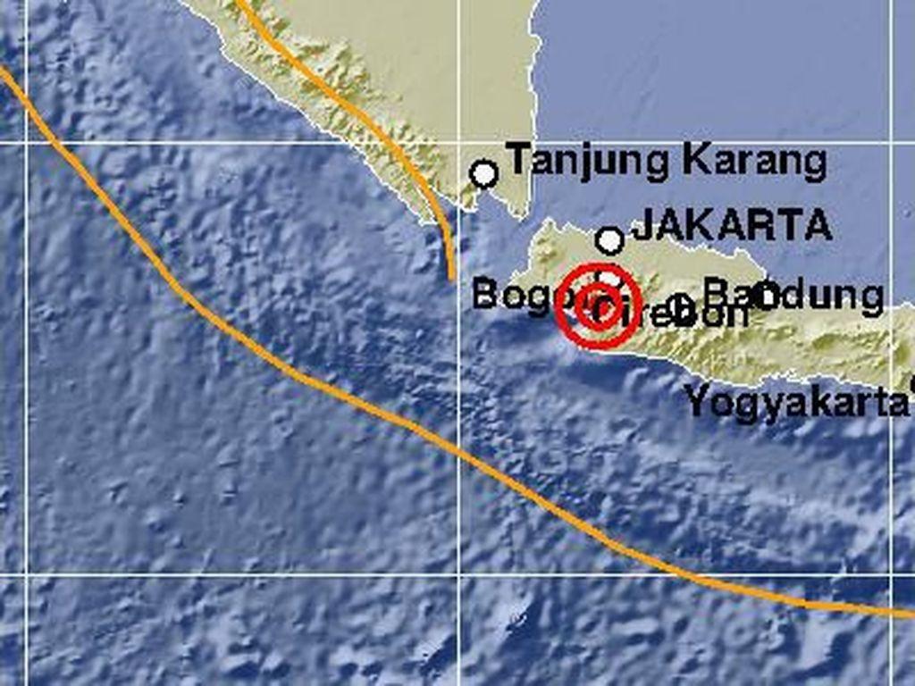 Rangkuman Data Gempa Sukabumi yang Terasa Hingga DKI