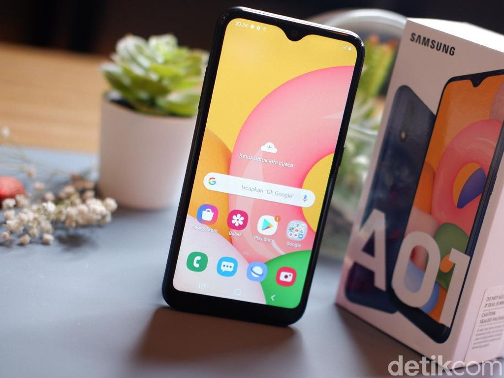 Galaxy A01, Ponsel Pemula Harga Ramah di Kantong