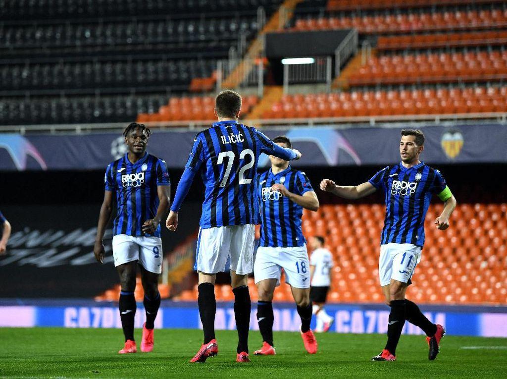Hasil Liga Champions: Kalahkan Valencia 4-3, Atalanta ke Perempatfinal