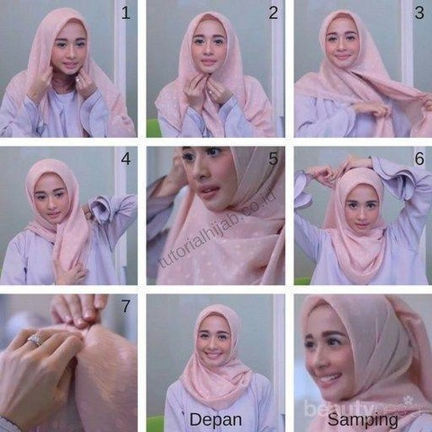 Model Hijab Segiempat Yang Cocok Untuk Kondangan