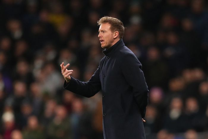 LONDON, ENGLAND - FEBRUARY 19:  Julian Nagelsmann manager of RB Leipzig during the UEFA Champions League round of 16 first leg match between Tottenham Hotspur and RB Leipzig at Tottenham Hotspur Stadium on February 19, 2020 in London, United Kingdom. (Photo by Catherine Ivill/Getty Images)