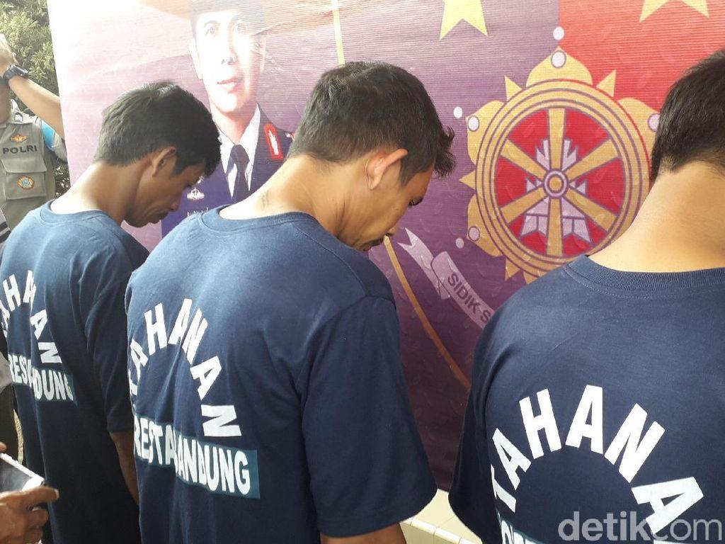 Polisi Tangkap Tiga Pembacok Mati Pria di Bandung
