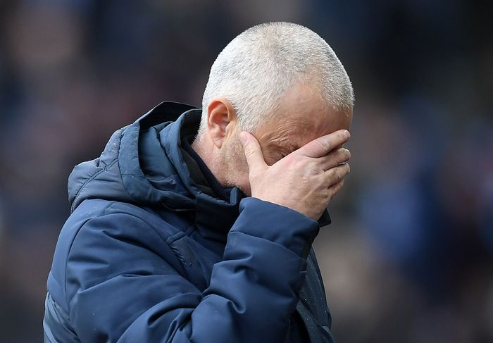 BIRMINGHAM, ENGLAND - FEBRUARY 16: Jose Mourinho, Manager of Tottenham Hotspur reacts prior to the Premier League match between Aston Villa and Tottenham Hotspur at Villa Park on February 16, 2020 in Birmingham, United Kingdom. (Photo by Michael Regan/Getty Images)