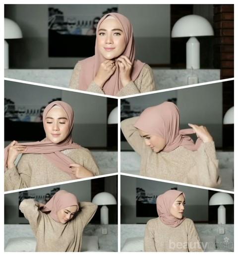 Tutorial Hijab Segiempat Praktis Ala Hijabers Cantik Ashry Rabani