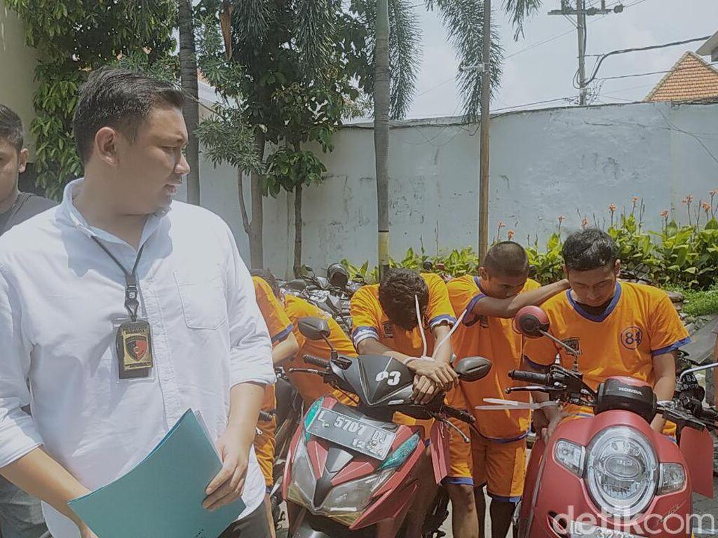 6 Pelaku Curanmor di Surabaya Diringkus, Salah Satunya di Bawah Umur