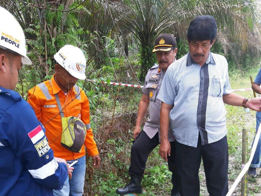 Mortir 100 Kg Ditemukan di Pekanbaru saat Pengerjaan Badan Jalan
