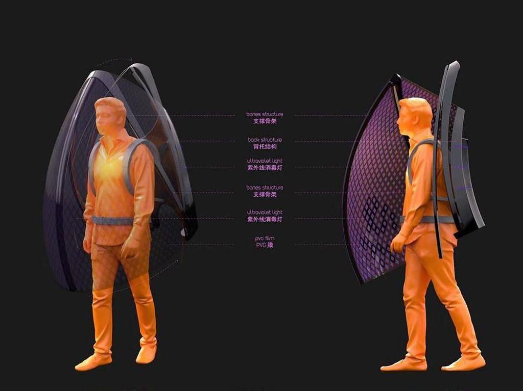 Ini Baju Anti Virus Corona, Mirip Sayap Kelelawar
