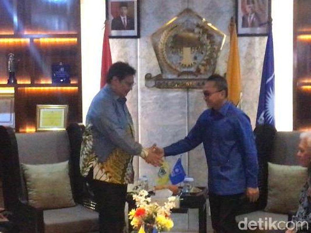 Bersama Soetrisno Bachir-Hatta Rajasa, Zulhas Sambangi DPP Golkar