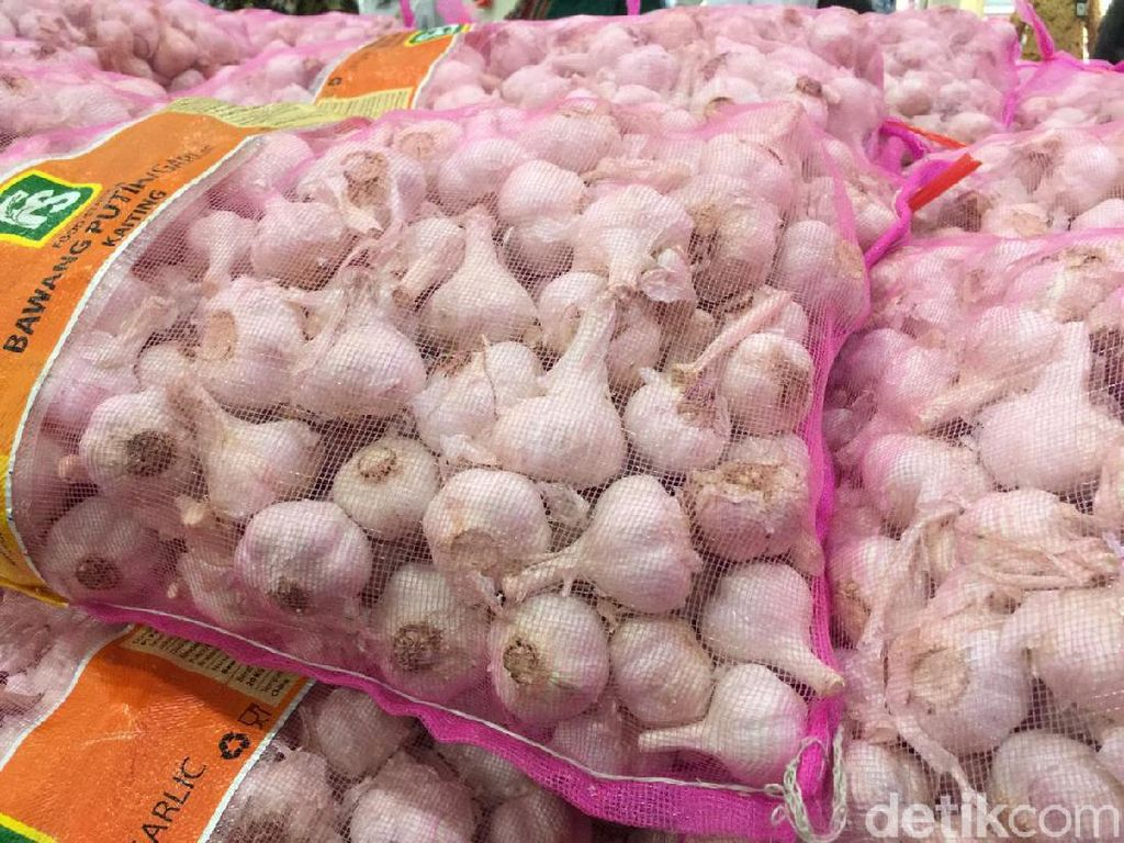 Pembebasan Berlaku hingga Mei, Impor Bawang Putih Juni Naik Tajam