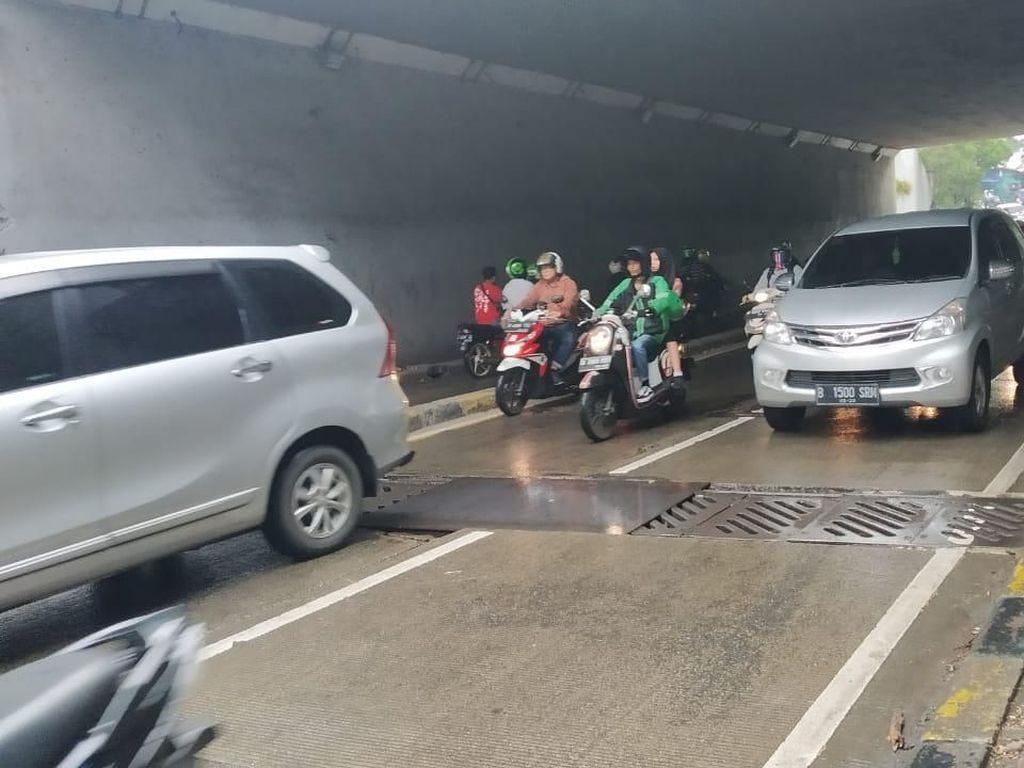 Sempat Amblas, Jalan di Underpass Manggarai Sudah Ditutup Plat Besi
