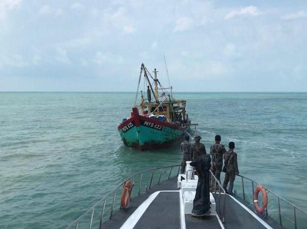 Selang 2 Hari, KKP Tangkap Lagi Kapal Asing Ilegal di Selat Malaka