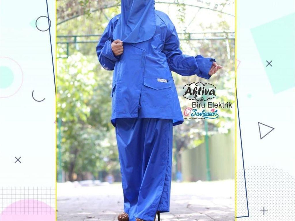 Cerita Hijabers Bisnis Jas Hujan Syari, Terinspirasi dari Wanita Bercadar
