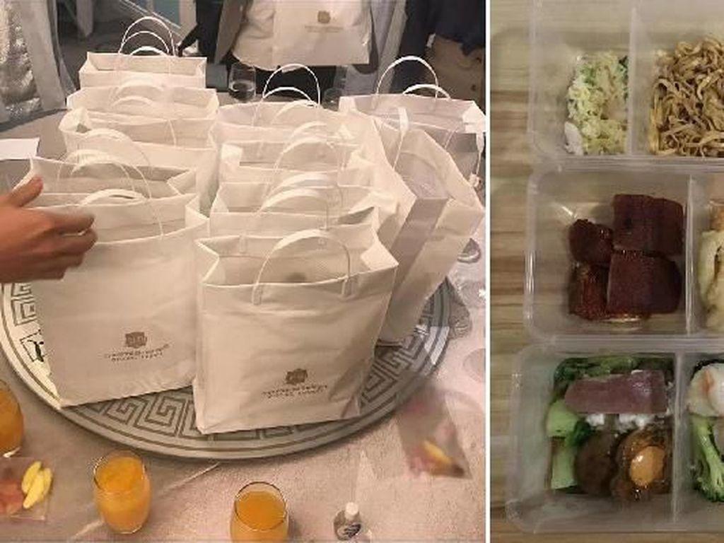 Khawatir Virus Corona, Pengantin Ini Siapkan Jamuan Makan Take Away untuk Tamu