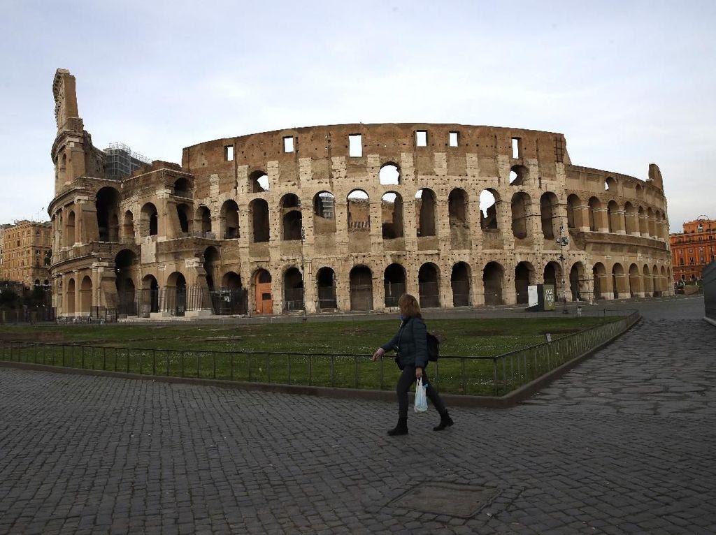 Pelanggar Dekrit Lockdown Corona di Italia Terancam Bui dan Denda