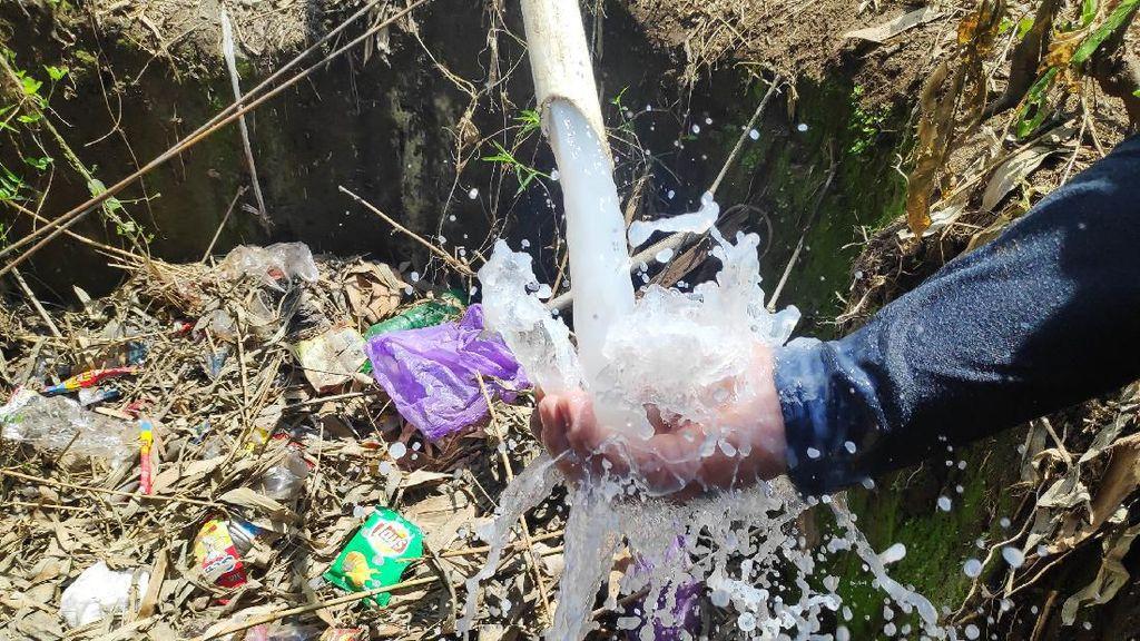 Penampakan Air Susu dari Sumur Bor di Gowa