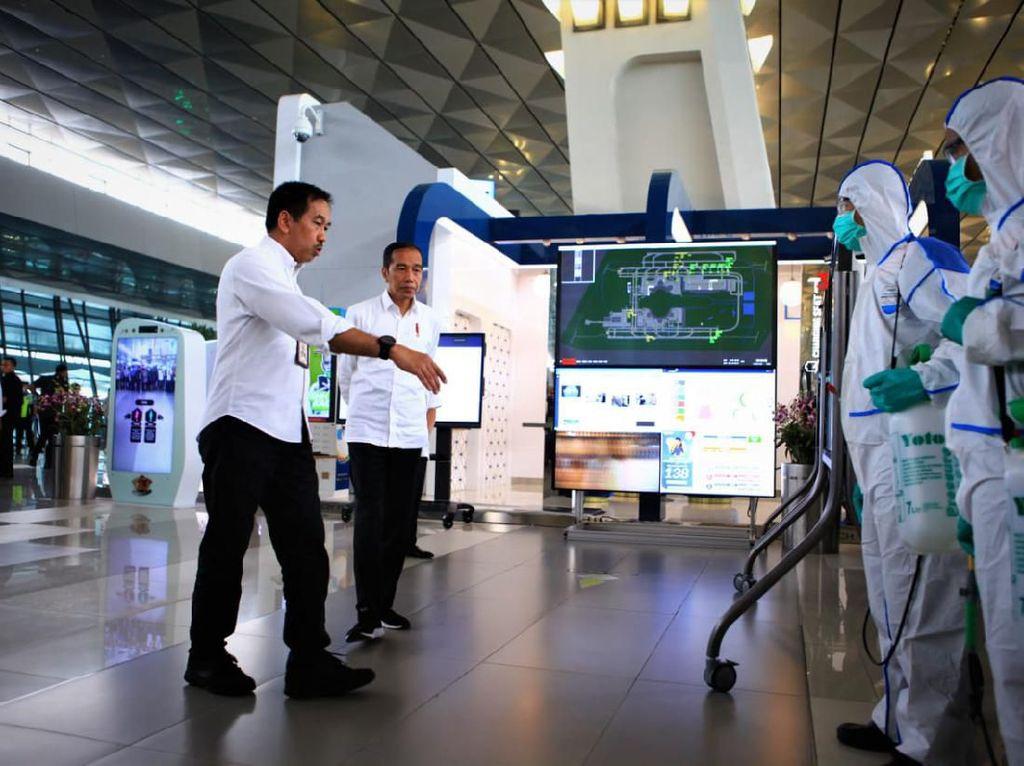 Pesan Jokowi soal Pencegahan Corona di Bandara Soekarno-Hatta