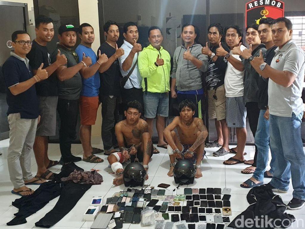 2 Jambret di Denpasar Ditembak Polisi, Ada 43 HP Disita