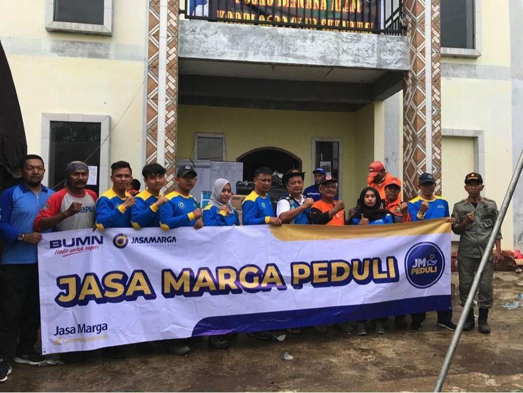 Korban Gempa Sukabumi Dapat Bantuan Sosial dari Jasa Marga