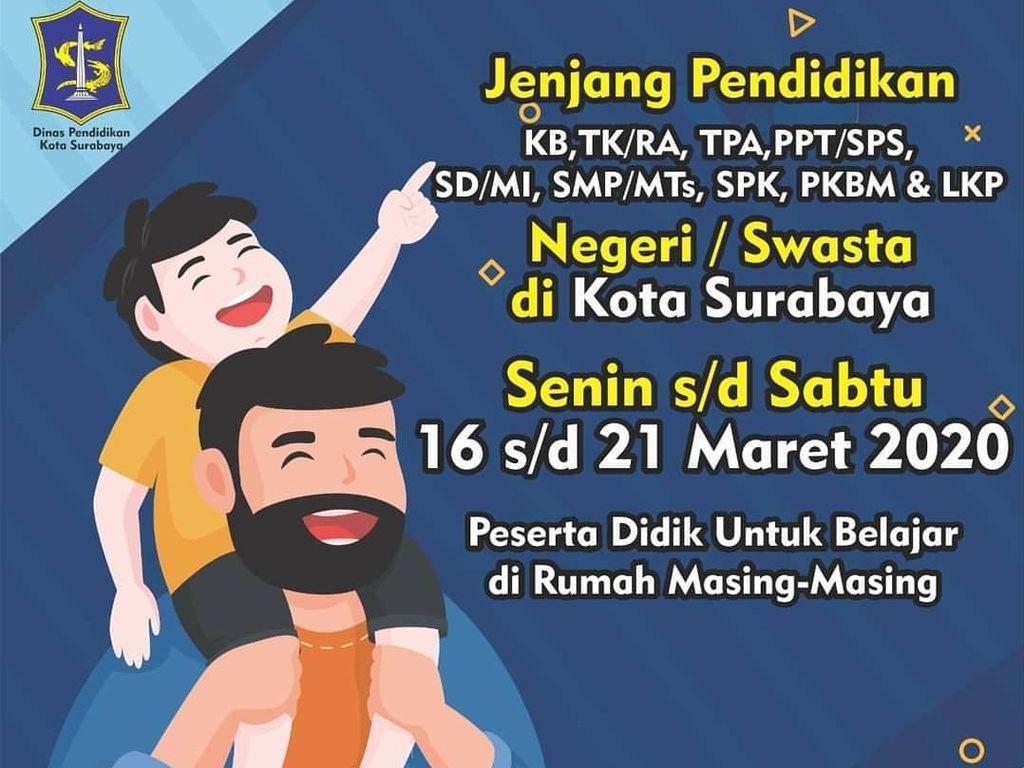 Cegah Penyebaran Corona, Risma Liburkan TK, SD, dan SMP se-Surabaya