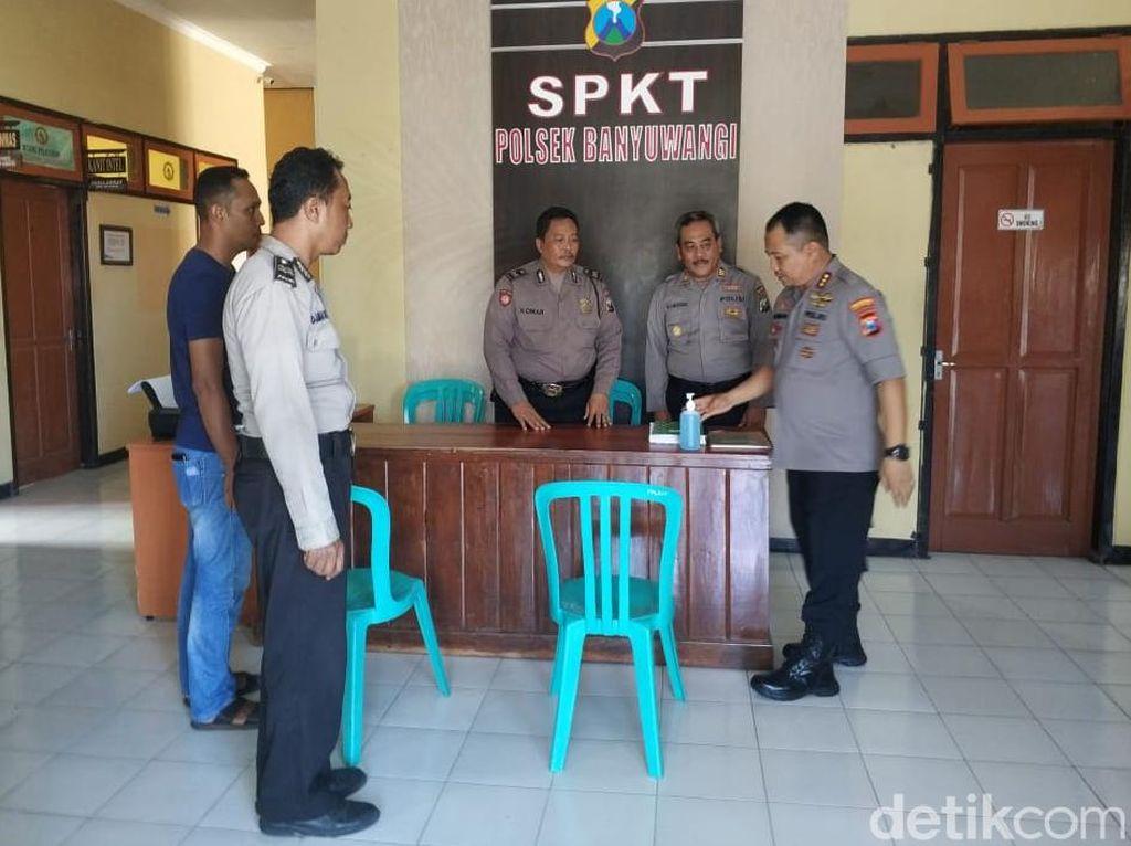 Antisipasi Corona, Pelayanan Umum di Kantor Polisi Banyuwangi Wajib Bersih