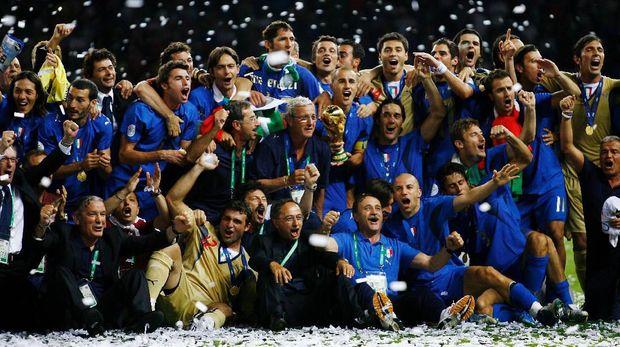 Skuat Italia saat juara Piala Dunia 2006.
