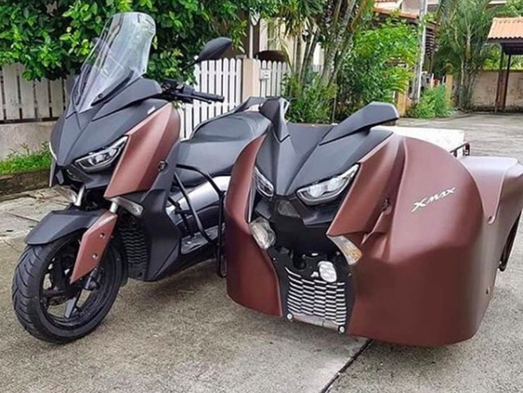 Modifikasi Yamaha XMax Two Face