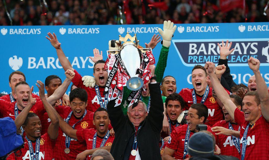 Sir Alex Ferguson punya koleksi 13 trofi Liga Inggris
