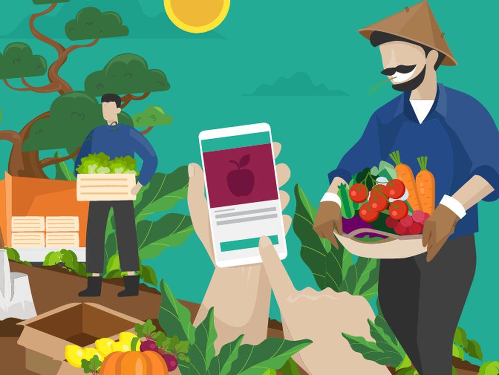 Berkah Penjual Sayur Online, Dagangan Laris Saat Pandemi Corona