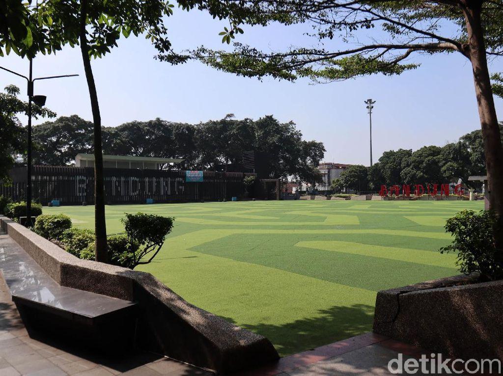 Antisipasi Corona, Taman Alun-alun Bandung Ditutup Sementara